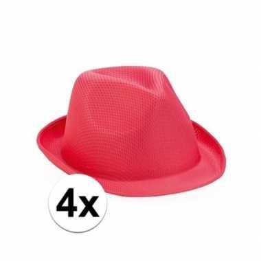 X roze toppers trilby hoedjes volwassenen