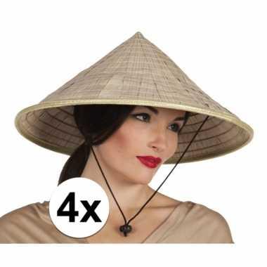 X stuks aziatische rijstpan strohoeden