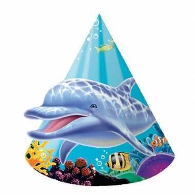 X stuks oceaan thema verjaardag feesthoedjes