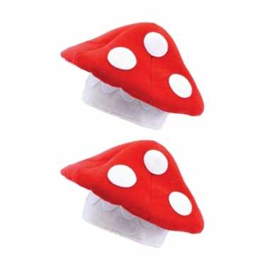 X stuks rode paddenstoel hoed volwassenen