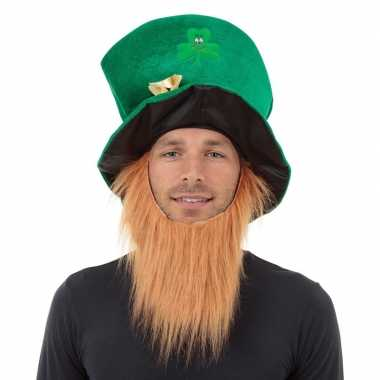 X stuks st patricks day groene hoed baard volwassenen