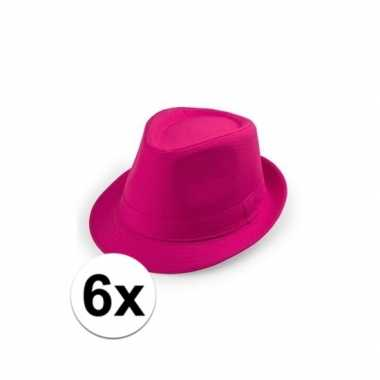 X toppers roze trilby hoedjes 10109531