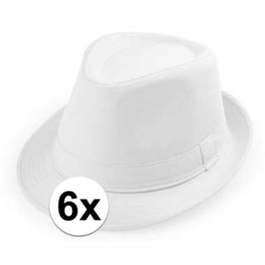 X wit trilby verkleed hoedjes volwassenen
