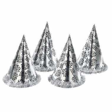 X zilveren feesthoedjes happy new year