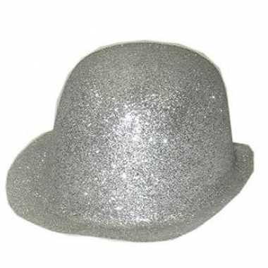 Zilver bolhoedje met glitters