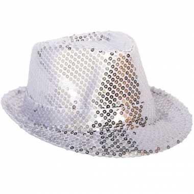 Zilveren hoedje met pailletten