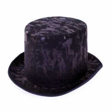 Zwarte antieke hoge hoed volwassenen
