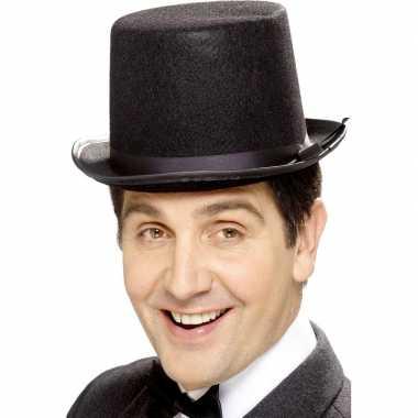 Zwarte hoge hoed vilt heren