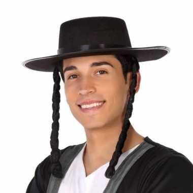 Zwarte orthodoxe jood verkleed hoed heren