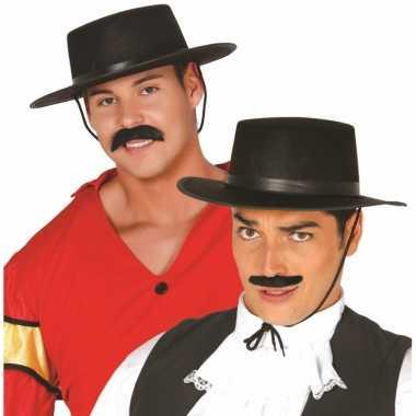 Zwarte spaanse hoed heren