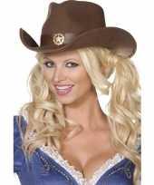 Bruine cowboy hoed volwassenen