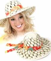 Caribische stro hoed voor dames