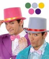 Gele hoge hoed vilt volwassenen