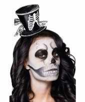 Halloween skeletten dames hoedje tiara