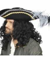 Luxe zwarte hoed veren