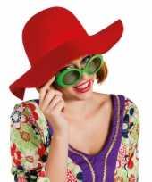 Rode flaphoed voor dames