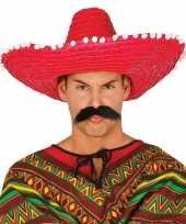 Rode sombrero mexicaanse hoed volwassenen 10148184