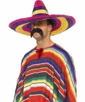 Set stuks grote gekleurde verkleed sombrero hoeden 10217028