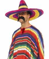 Set stuks grote gekleurde verkleed sombrero hoeden